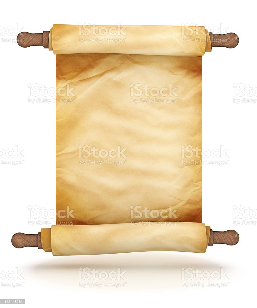 Scroll of Old Parchment vector art illustration