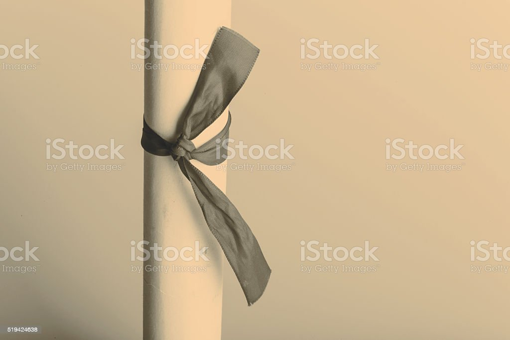 scroll of paper stock photo