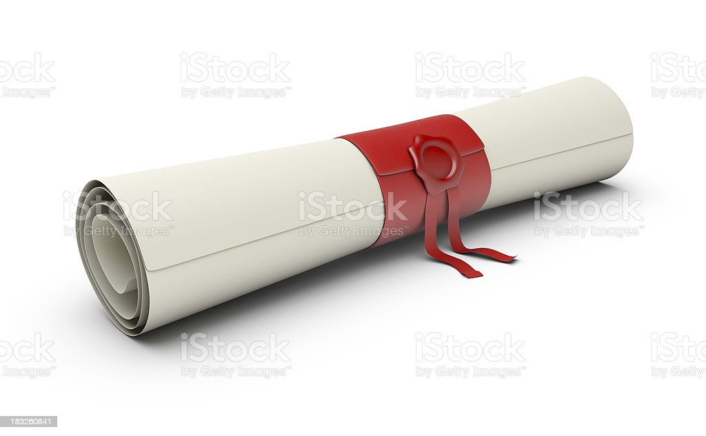 Scroll royalty-free stock photo