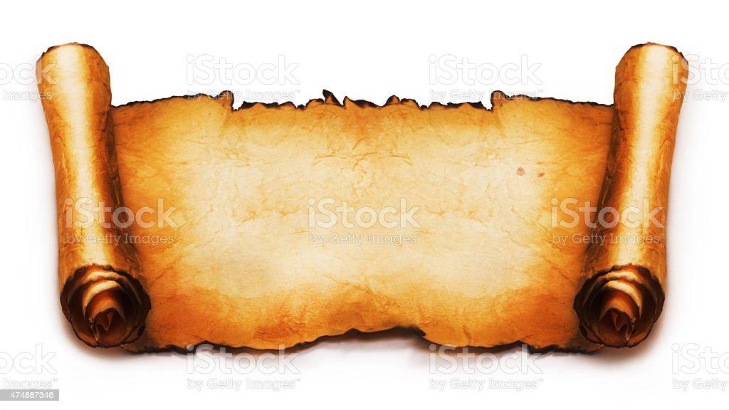 scroll stock photo