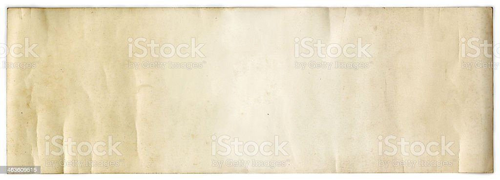 Rotolo di carta d'epoca (con clipping path) foto stock royalty-free