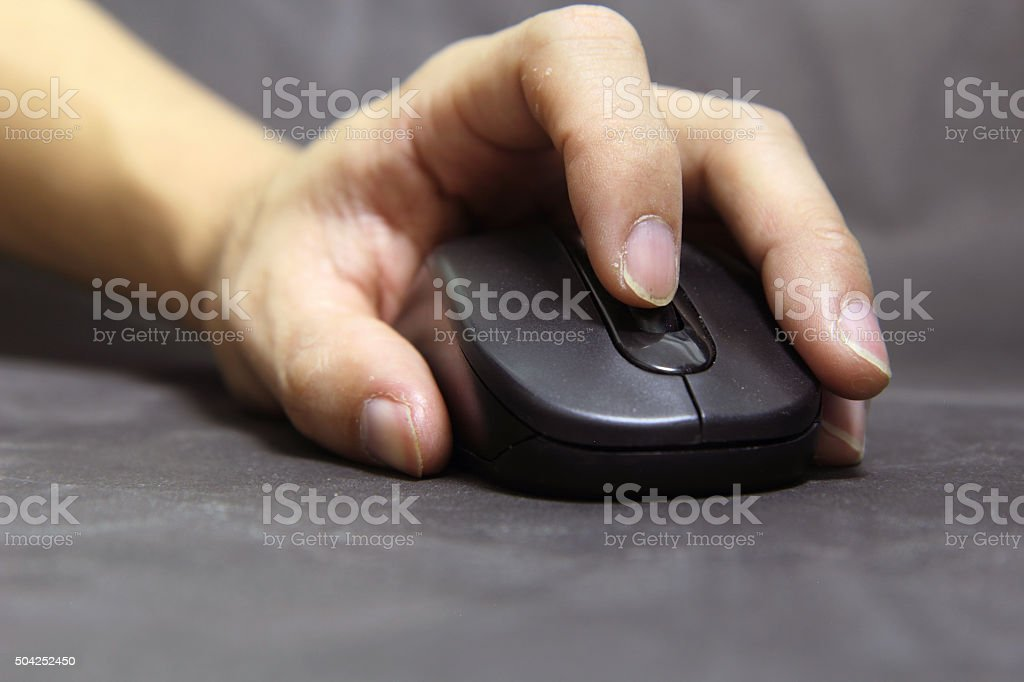 Scroll wheel mouse stock photo