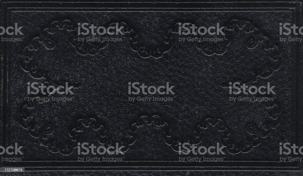 Scrolled Black Leather royalty-free stock photo