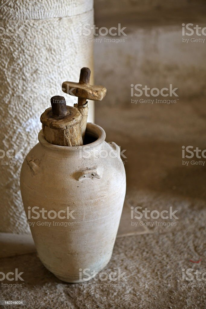 Scrolls in Place of Worship stock photo