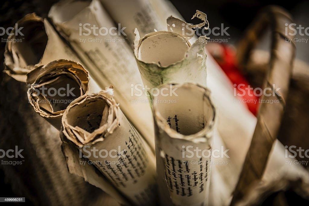 Scrolls stock photo