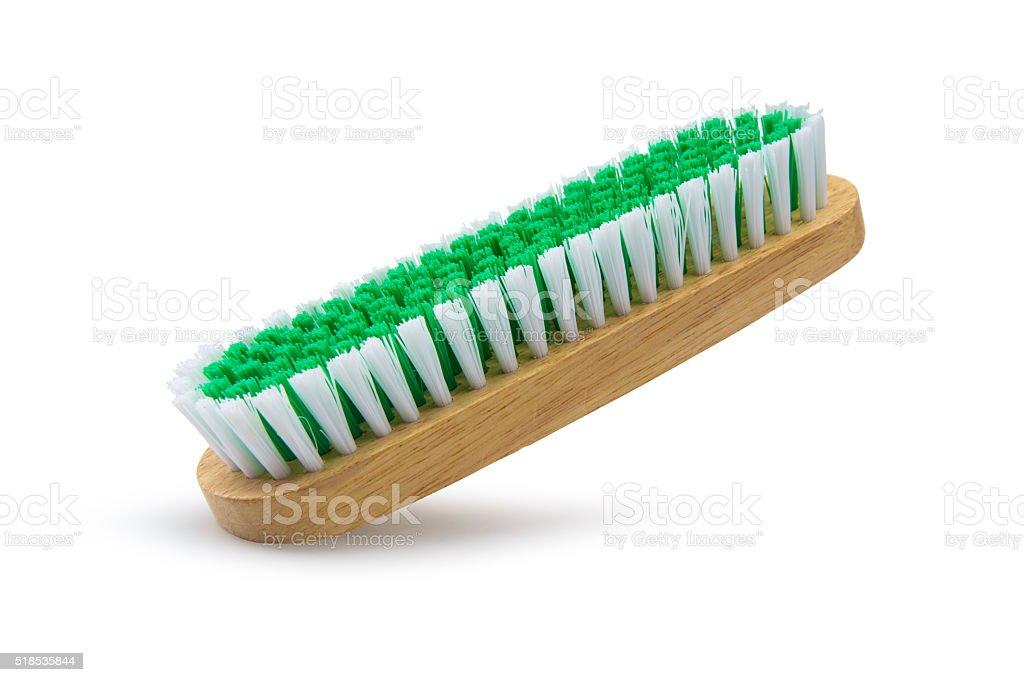 Scrub brush isolated on white background stock photo