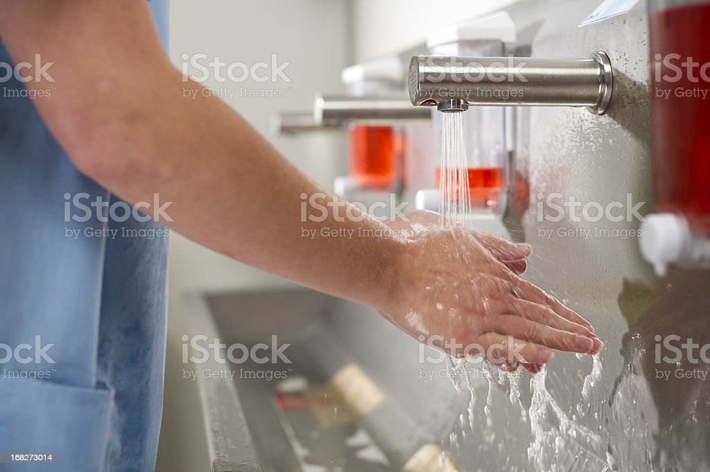 scrub up stock photo