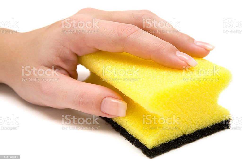 Scrubbing stock photo