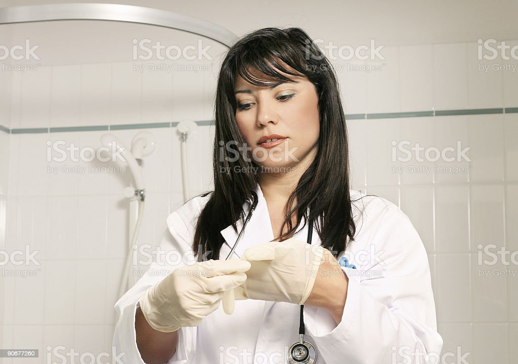Scrubbing up royalty-free stock photo