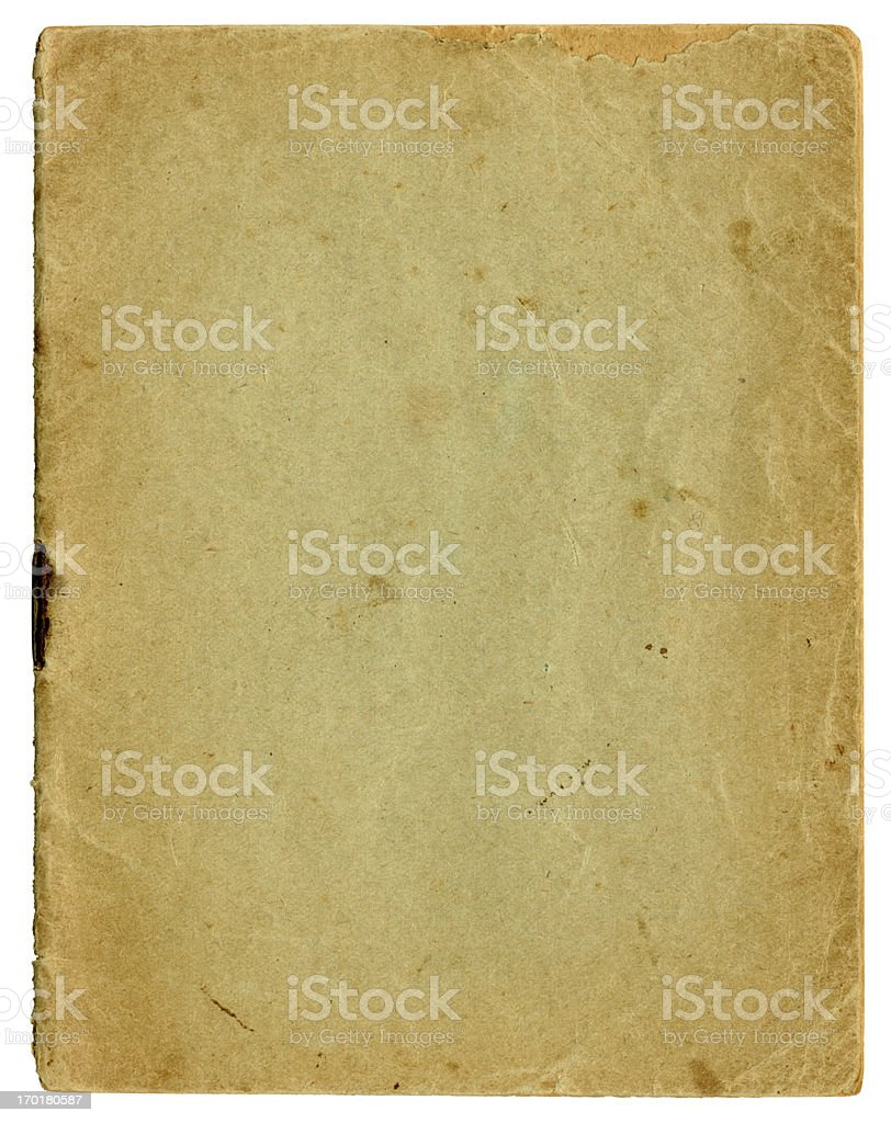 Scruffy blank booklet cover royalty-free stock photo