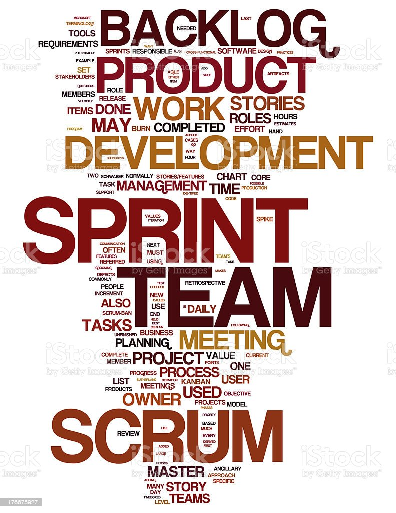 Scrum collage concepts stock photo