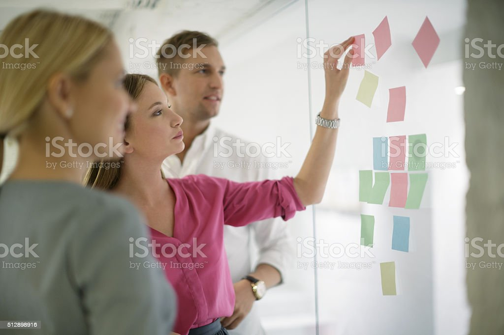 Scrum meeting stock photo