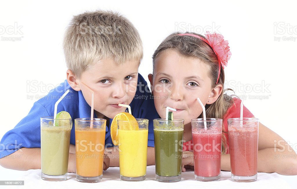 Scrummy Juices royalty-free stock photo