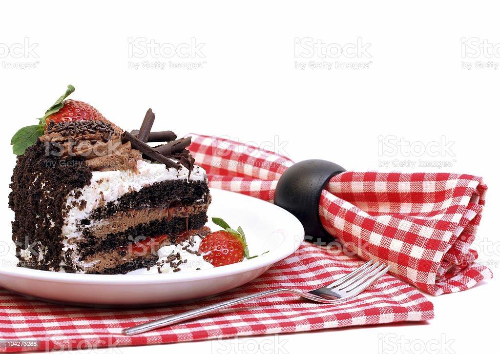 Scrumptious Chocolate Mousse Cake royalty-free stock photo