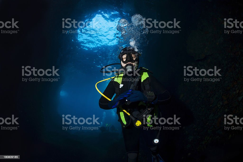 Scuba diver royalty-free stock photo