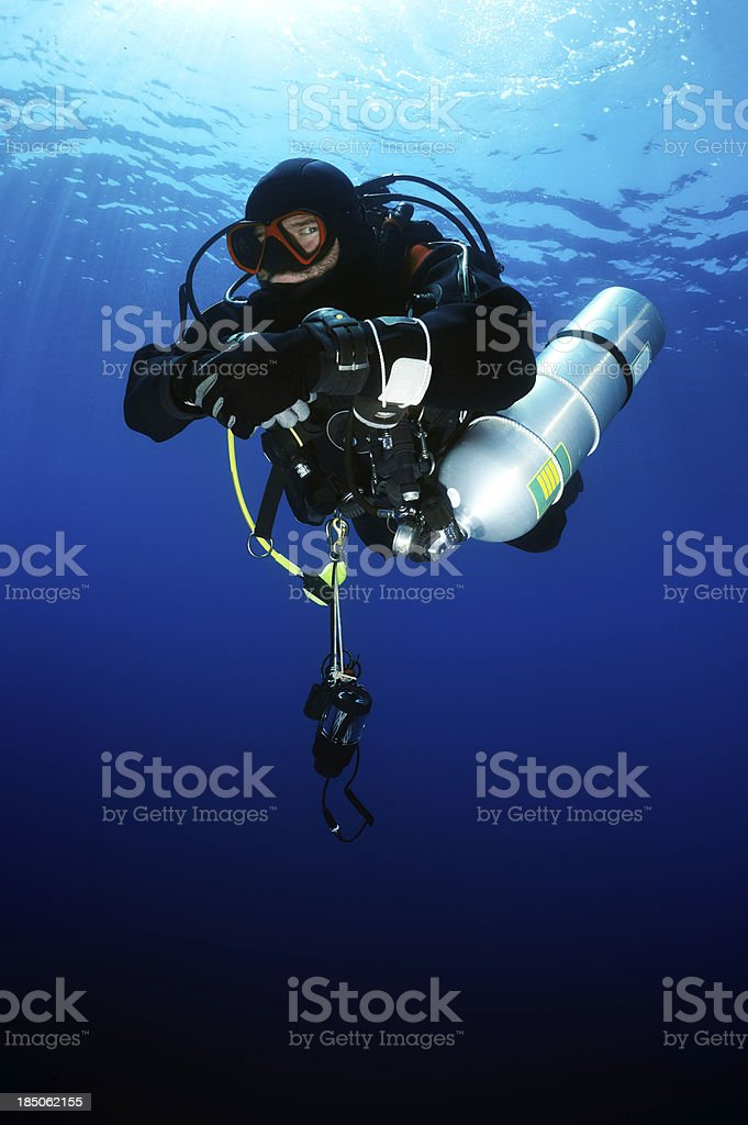 Scuba Diver Portrait royalty-free stock photo