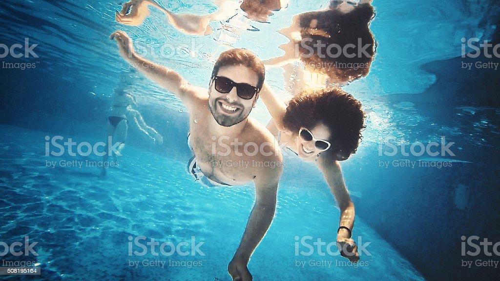 Scuba diving selfie. stock photo