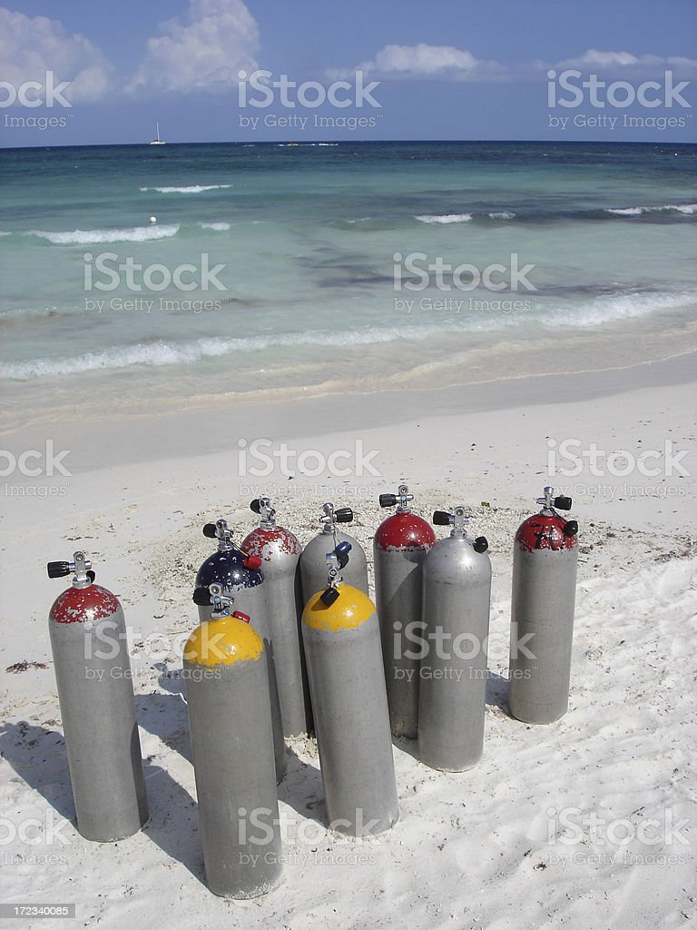 Scuba Diving Tanks royalty-free stock photo