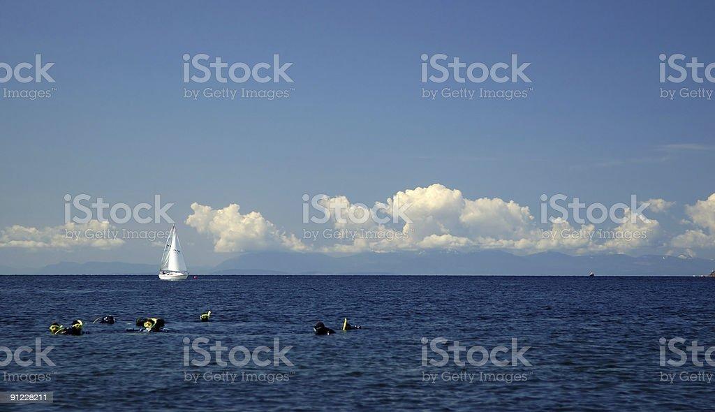 scuba diving training royalty-free stock photo