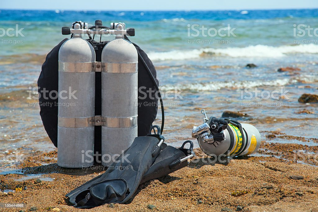 Scuba equipment stock photo