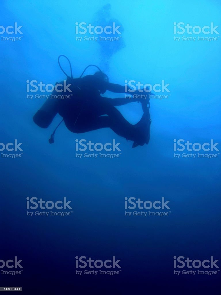 scuba stretch royalty-free stock photo