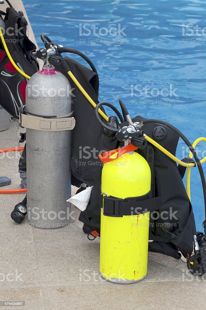 Scuba Training stock photo