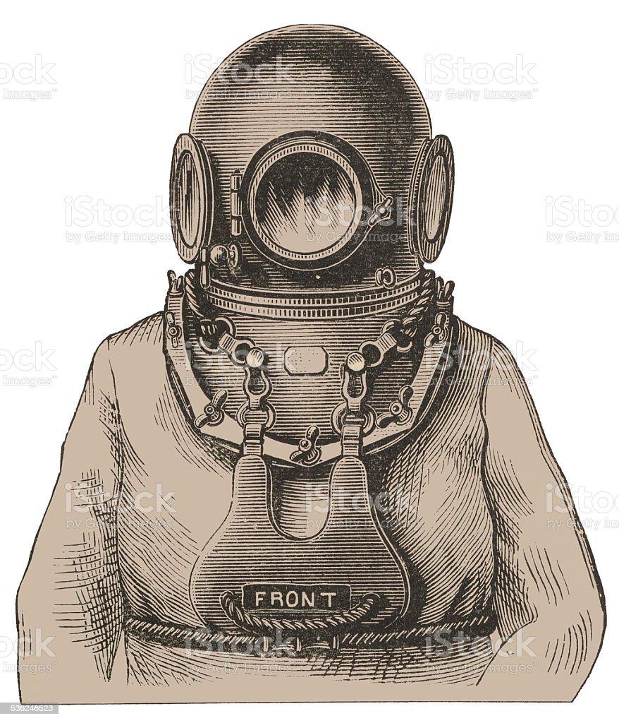 Scuba-diver stock photo