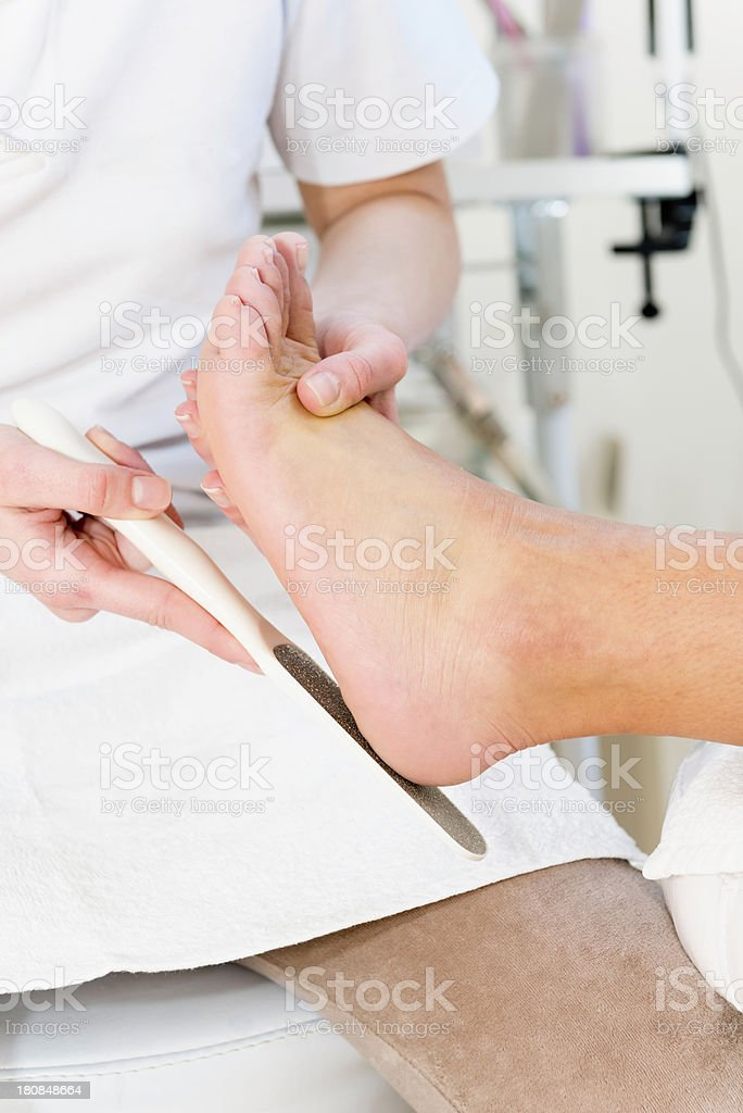 Scubbing heels royalty-free stock photo