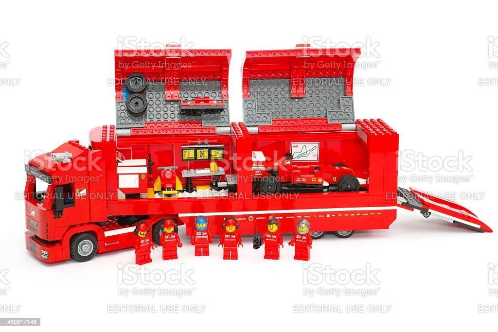 F14 T & Scuderia Ferrari Truck  by LEGO Speed Champions stock photo