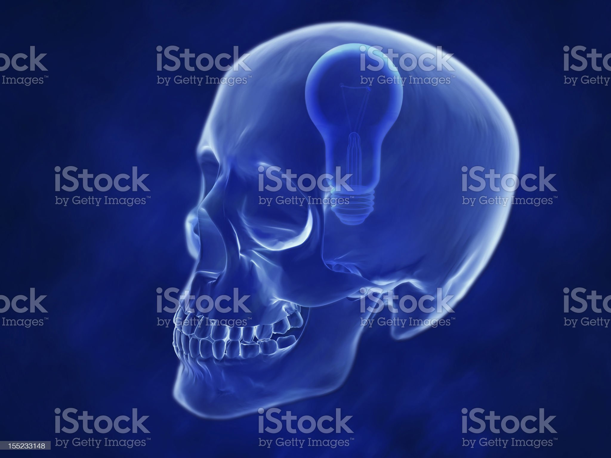scull 3d royalty-free stock vector art