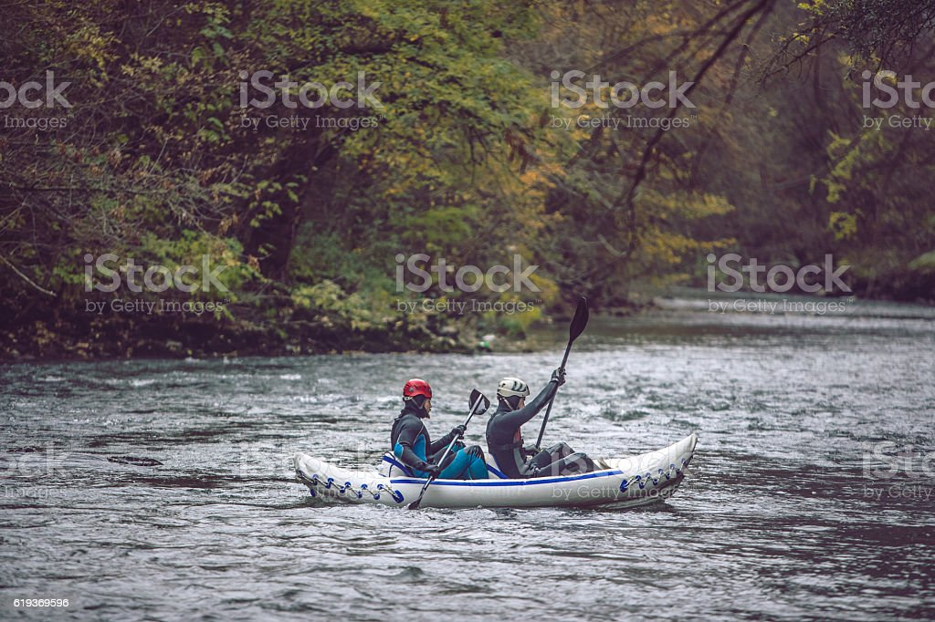 Sculling stock photo