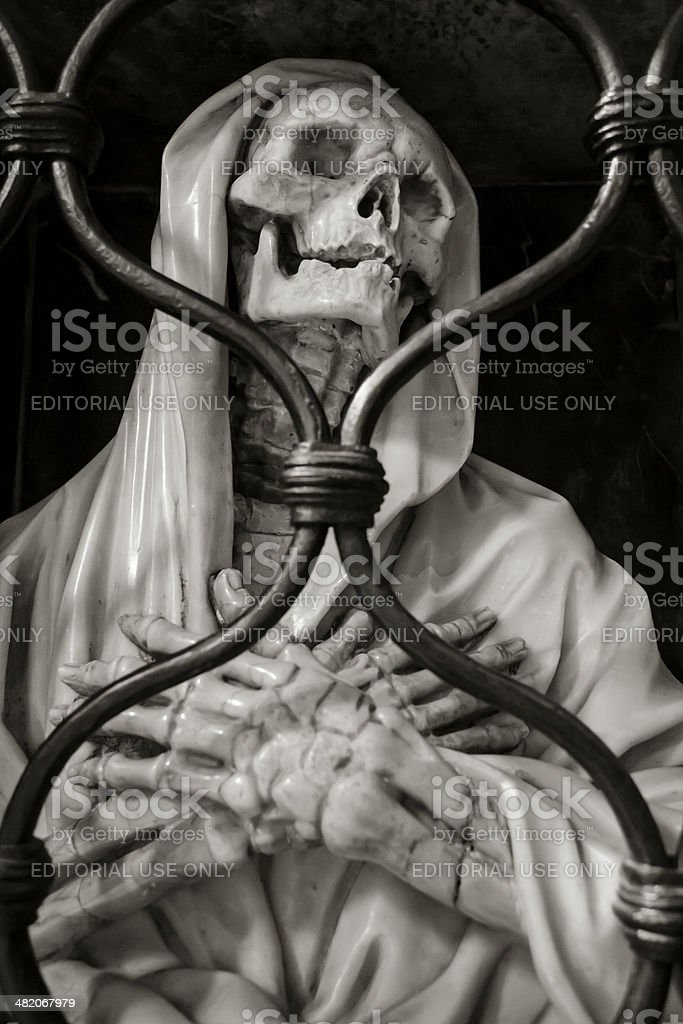 Sculprure of a departed Saint, in Santa Maria del Popolo royalty-free stock photo