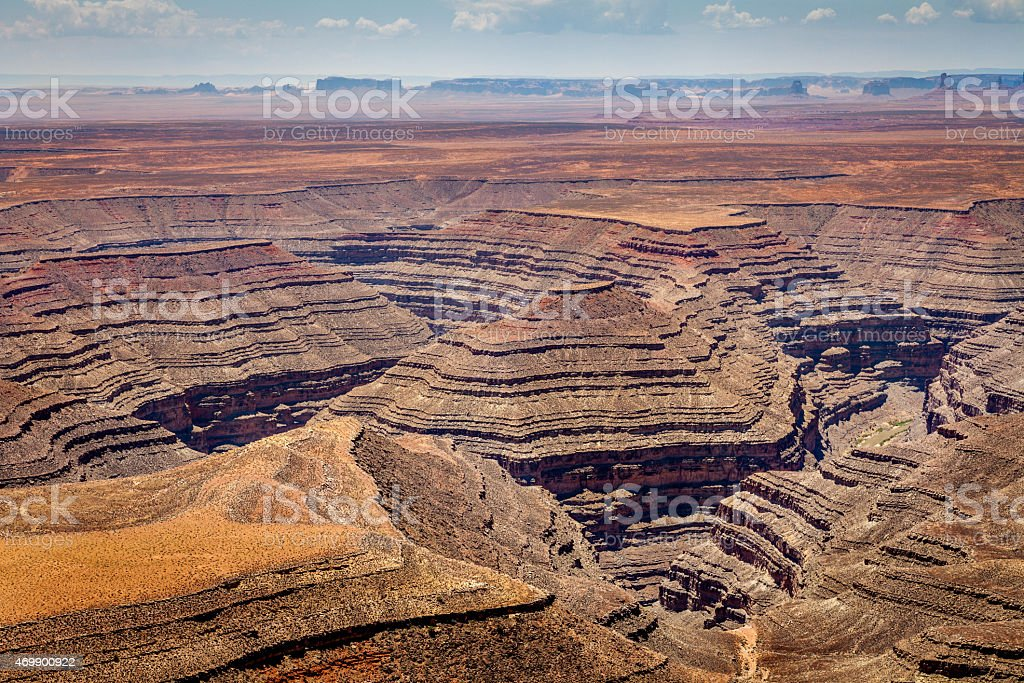 Sculpted canyon stock photo