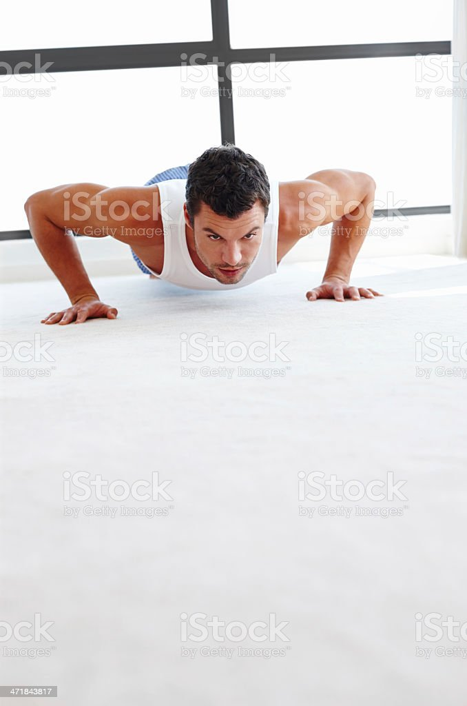 Sculpting his body royalty-free stock photo