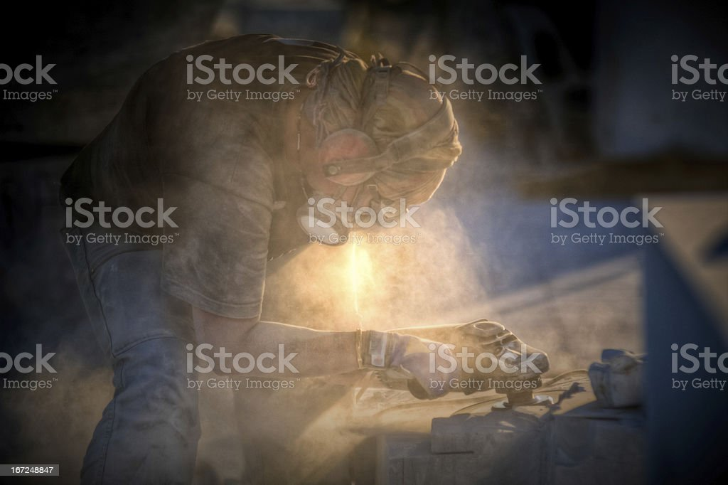 Sculptor royalty-free stock photo