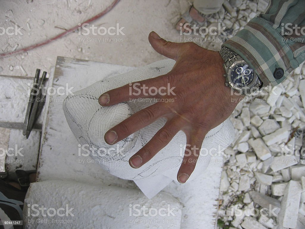 Sculptor's Hand royalty-free stock photo