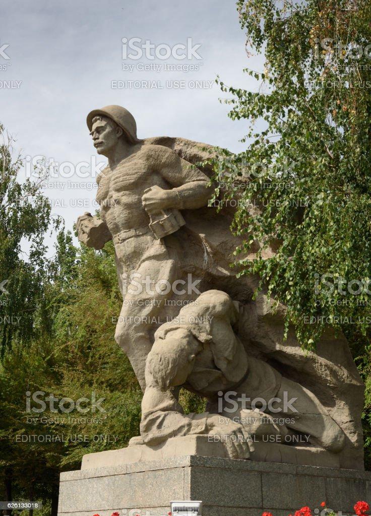 Sculptura Devoted to the heroism of Soviet marines. Mamayev Kurgan stock photo