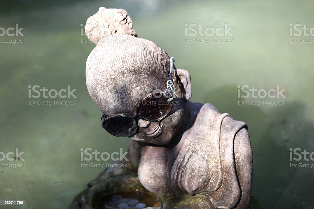 Sculpture, architecture and symbols of Buddhism, Thailand stock photo