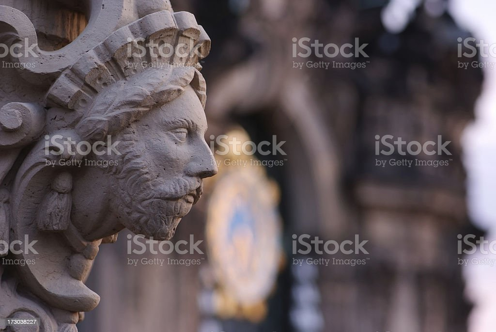 sculpture at Zwinger stock photo