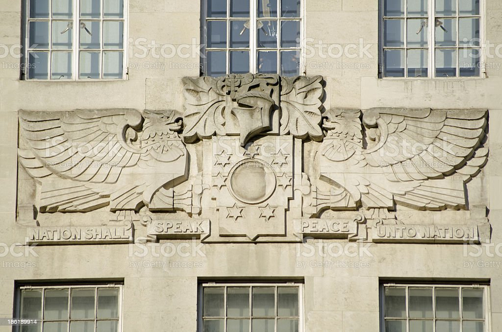 Sculpture, BBC Broadcasting House stock photo