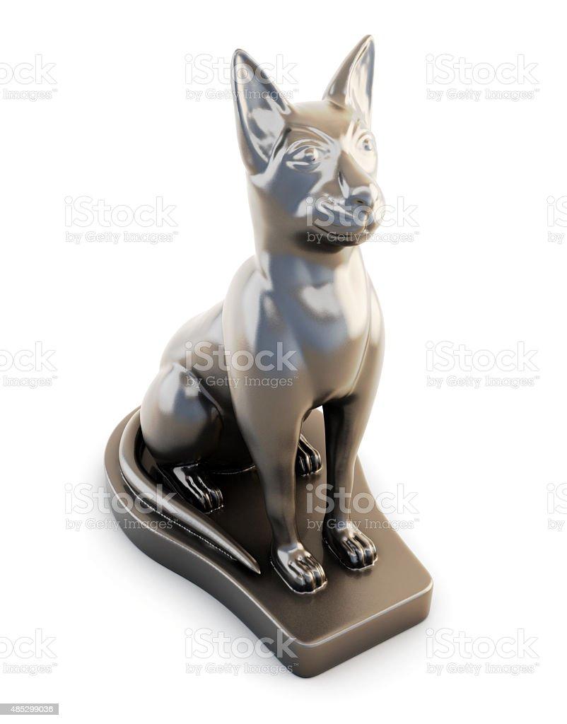 Sculpture cats stock photo