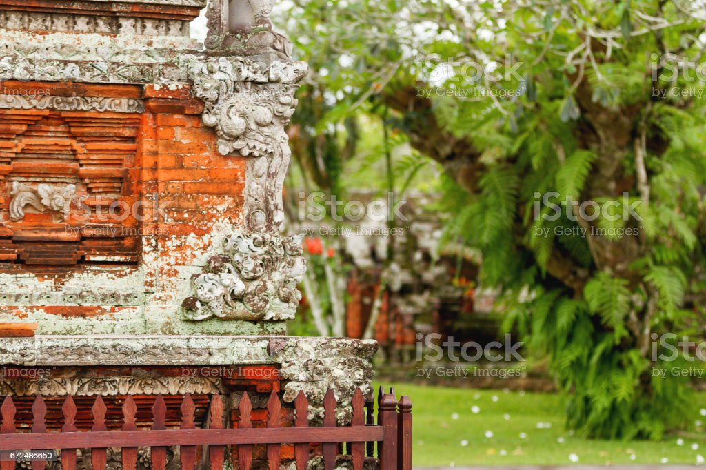 Sculpture detail in Taman Ayun Temple, Bali. Indonesia. stock photo