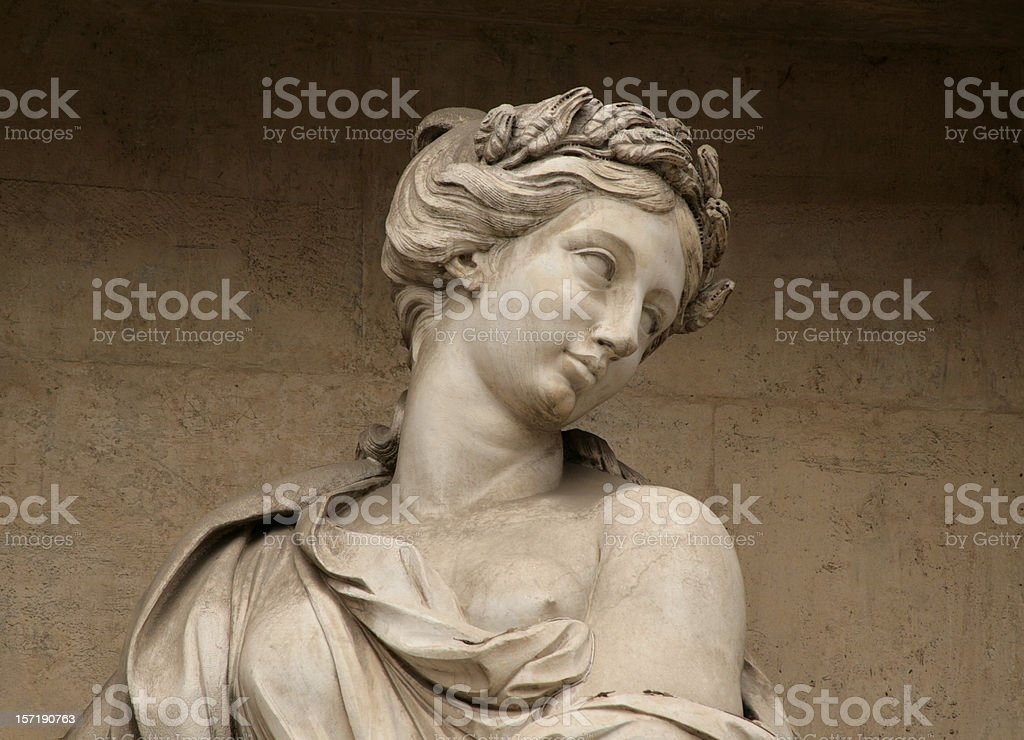 Sculpture from the Trevi Fountain, Rome Italy stock photo