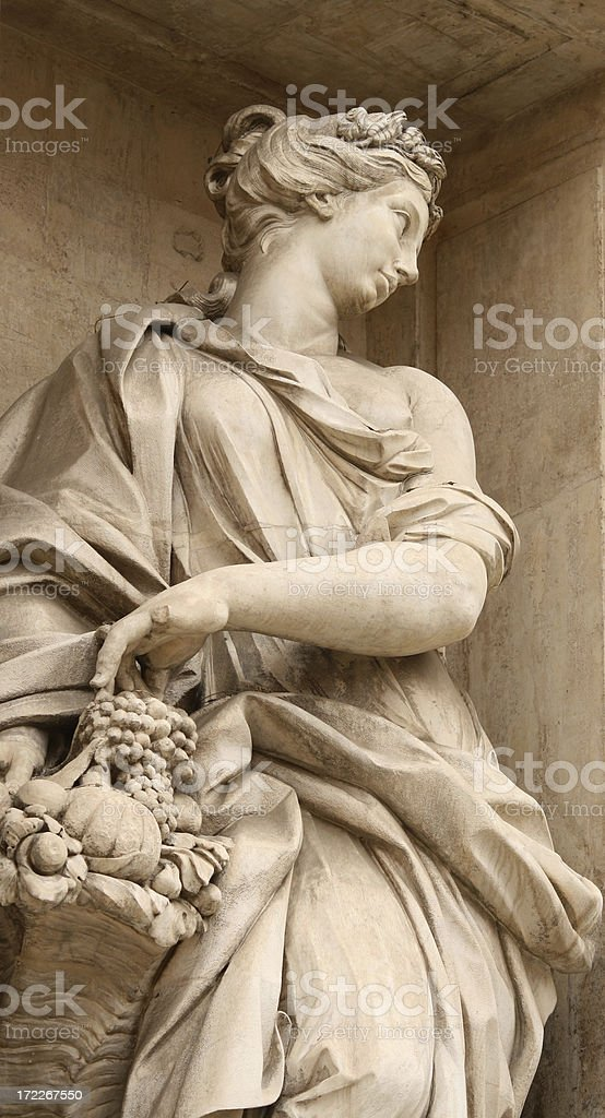 Sculpture from the Trevi Fountain, Rome Italy royalty-free stock photo