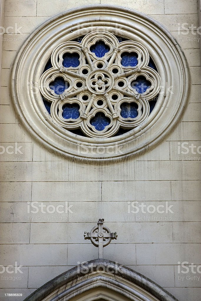 sculpture glass and a cross royalty-free stock photo