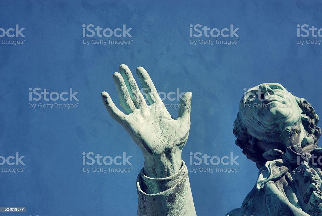 Sculpture Hand stock photo