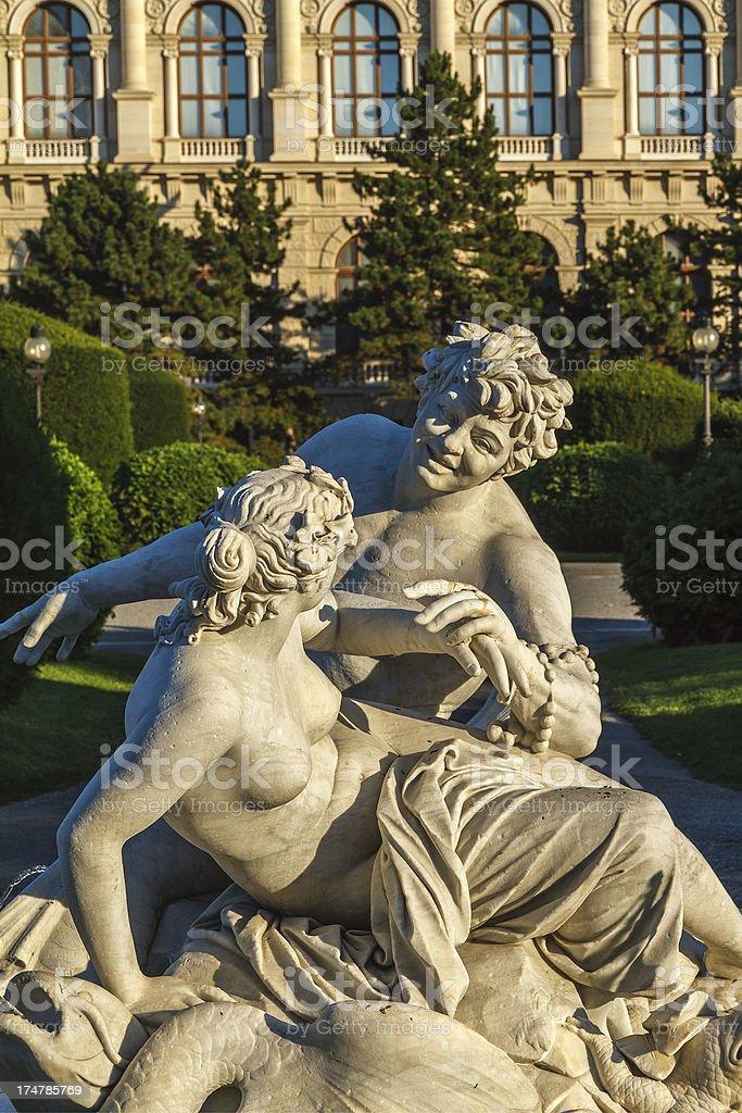 Sculpture in Central Vienna stock photo