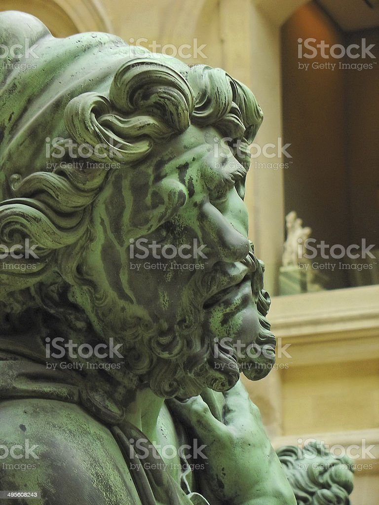 Sculpture in high relief royalty-free stock photo