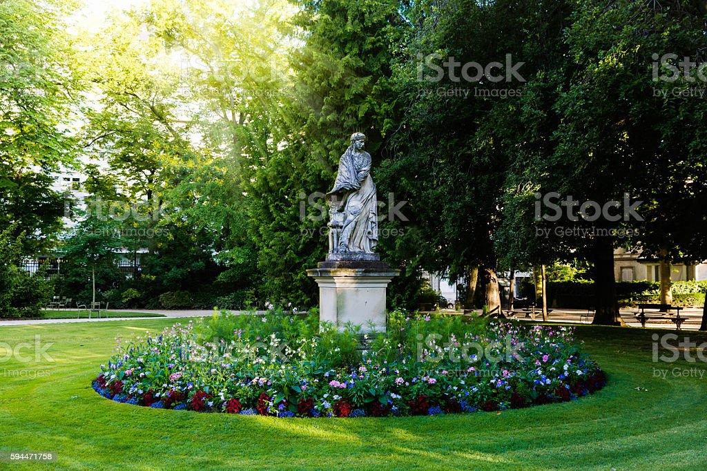sculpture in Luxembourg gardens, Paris stock photo