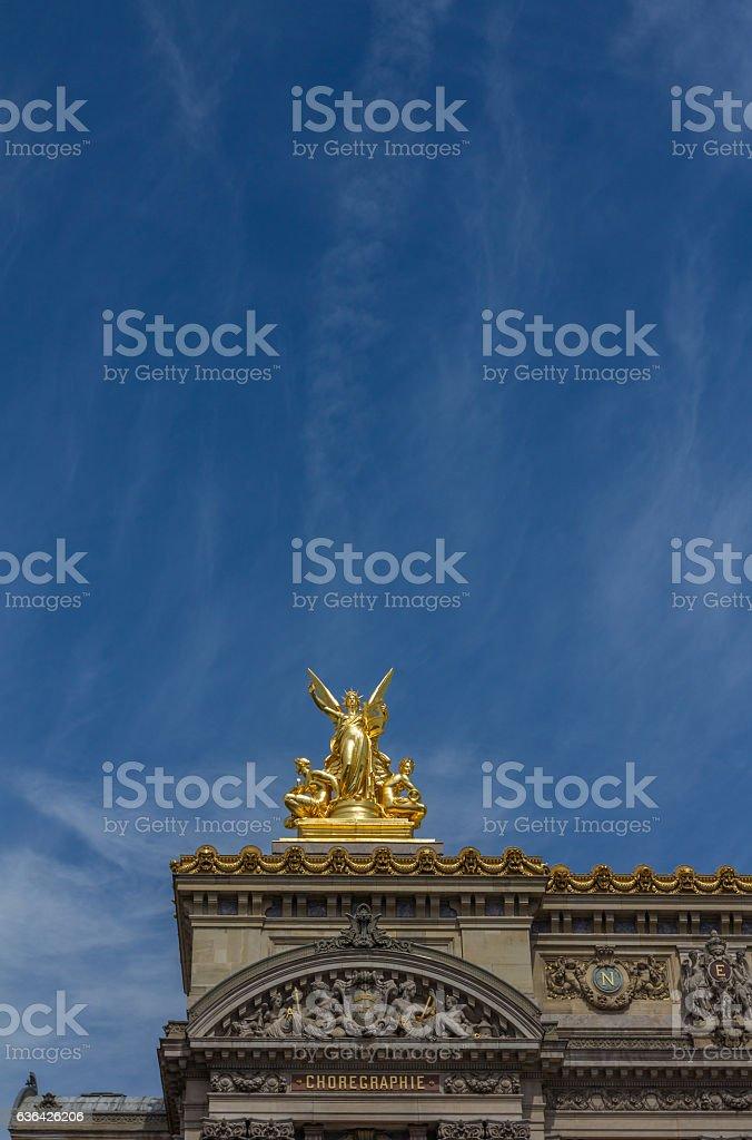 Sculpture in Paris Opera Building stock photo